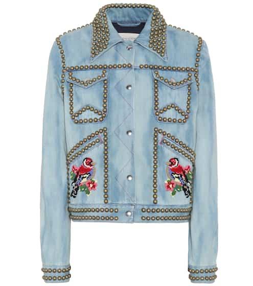 Gucci Verzierte Jeansjacke