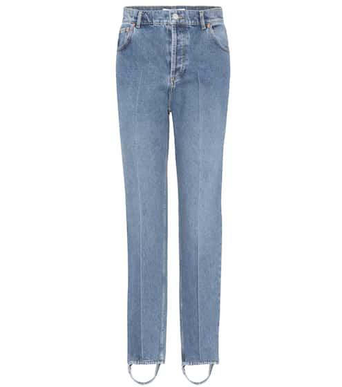 Balenciaga Exklusiv bei mytheresa.com – Steg-Jeans aus Baumwoll-Denim