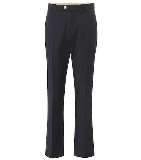 끌로에 Chloe High-rise straight wool-blend pants