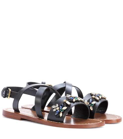 Marni Verzierte Sandalen aus Leder