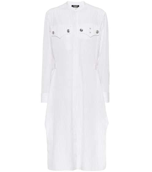 Calvin klein black and white shirt dress