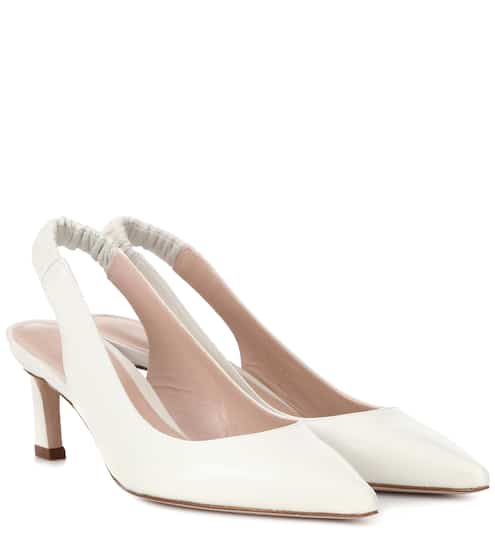 9a3223cede3 Stuart Weitzman Hayday Leather Slingback Pumps from mytheresa - Styhunt
