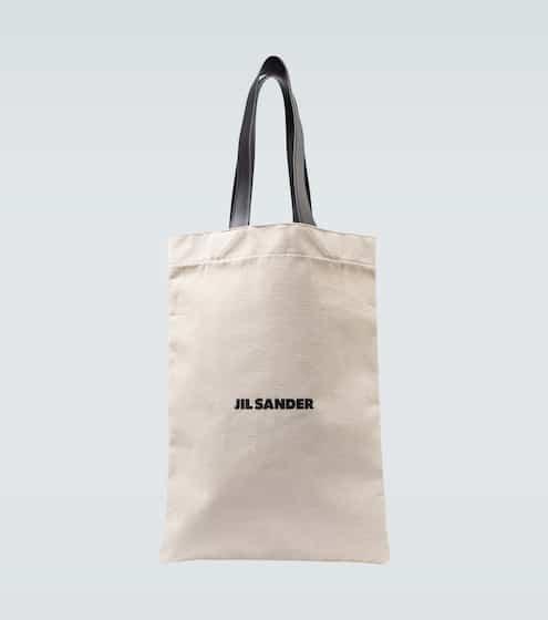 질 샌더 Jil Sander Grand logo flat shopper bag