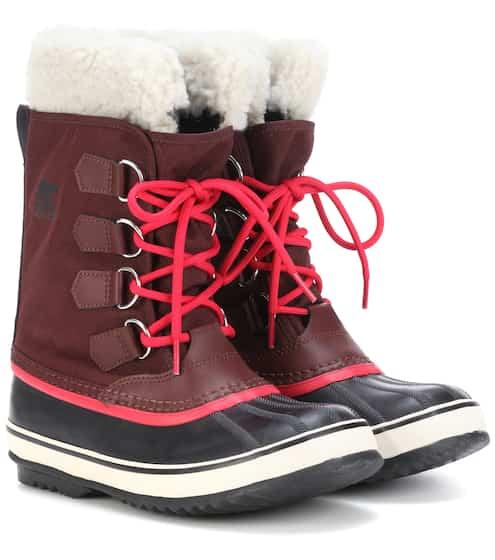 Sorel Stiefel Winter Carnival mit Leder und Pelz
