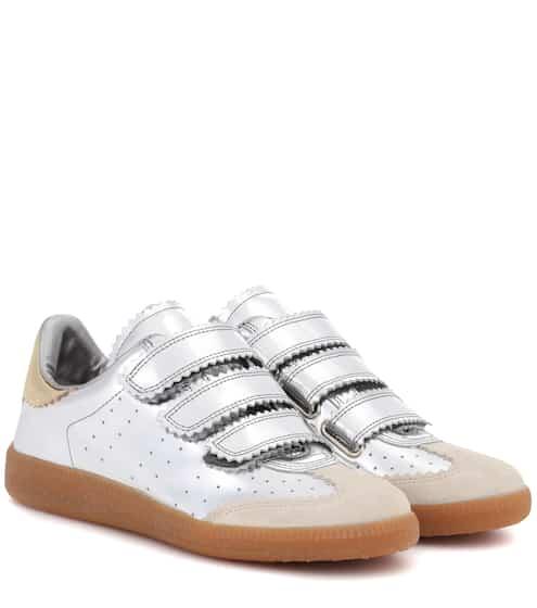 Isabel Marant Sneakers Beth aus Metallic-Leder