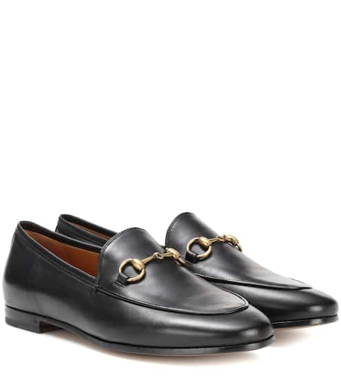구찌 우먼 조르단 레더 로퍼 (블랙) Gucci Jordaan leather loafers, Nero