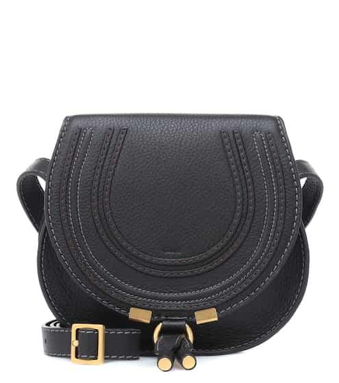 끌로에 마르시에 숄더백 스몰 그레이 블랙 Chloe Marcie Small leather shoulder bag