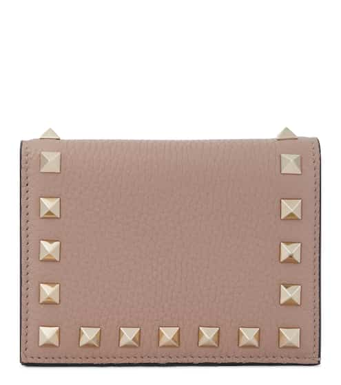 발렌티노 Valentino Garavani Rockstud leather wallet