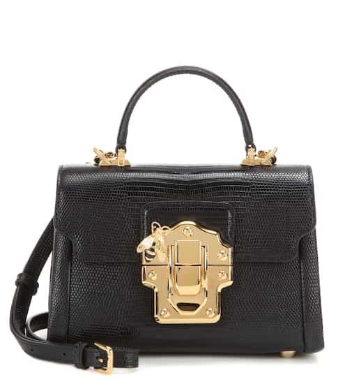 Dolce & Gabbana Crossbody-Tasche Lucia Mini aus geprägtem Leder