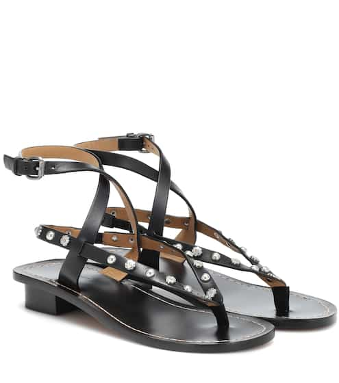 이자벨 마랑 징스 스터드 샌들 - 블랙 Isabel Marant Jings embellished leather sandals