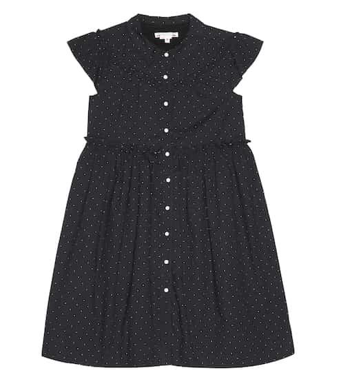 봉쁘앙 걸즈 리나 도트 원피스 - 블랙 Bonpoint Lina cotton dress