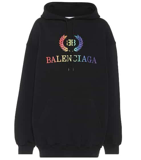 발렌시아가 Balenciaga BB oversized jersey hoodie