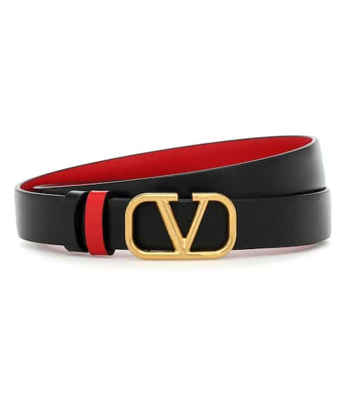 발렌티노 V로고 양면 가죽 벨트 2cm Valentino Garavani VLOGO reversible leather belt