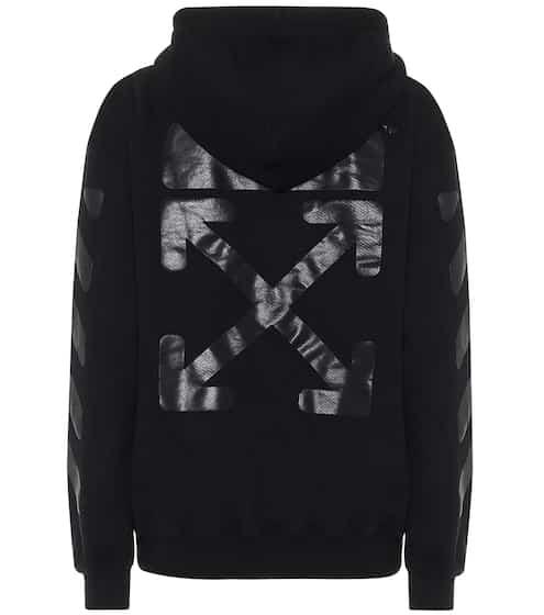 오프화이트 로고 후드티 Off-White Logo cotton-jersey hoodie