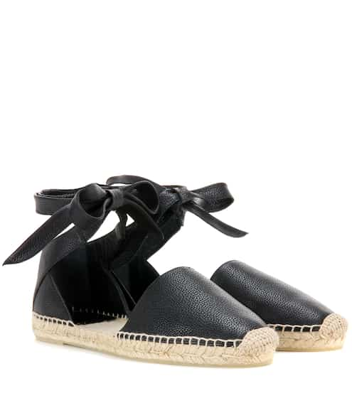 5b95fe9e7d1 Saint Laurent Leather Espadrille Sandals from mytheresa - Styhunt