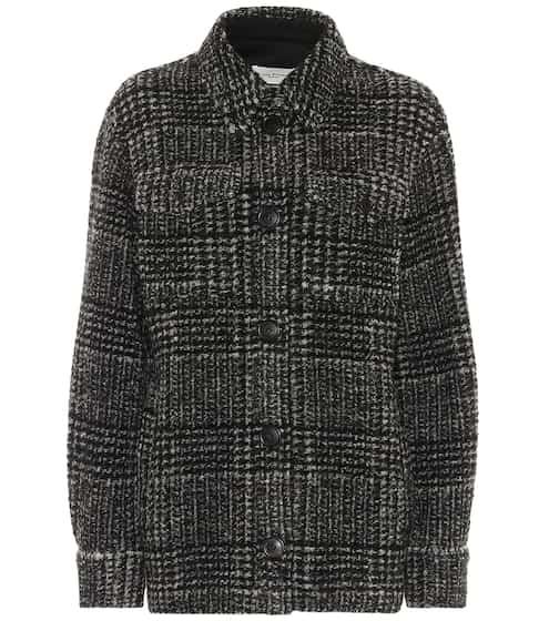 이자벨 마랑 에뚜왈 가스토니 자켓 블랙 Isabel Marant Etoile Gastoni checked wool-blend jacket