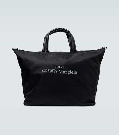 메종 마르지엘라 Maison Margiela Upside-down logo nylon tote bag