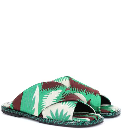 Dries Van Noten Jacquard Slide Sandals from mytheresa - Styhunt 13474d225