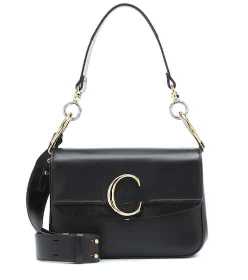 끌로에 C 클러치백 스몰 - 블랙 Chloe C Small leather shoulder bag
