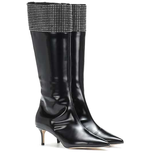 8f74e5c1baa Embellished leather knee-high boots