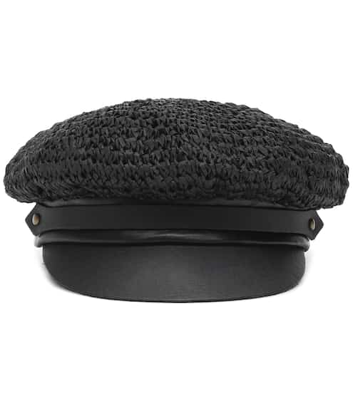 520cea353a6 Chauffeur raffia and leather hat