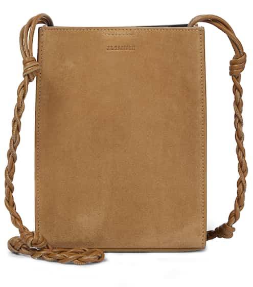 질 샌더 탱글백 스몰, 스웨이드 - 다크 샌드 Jil Sander Tangle Small suede shoulder bag