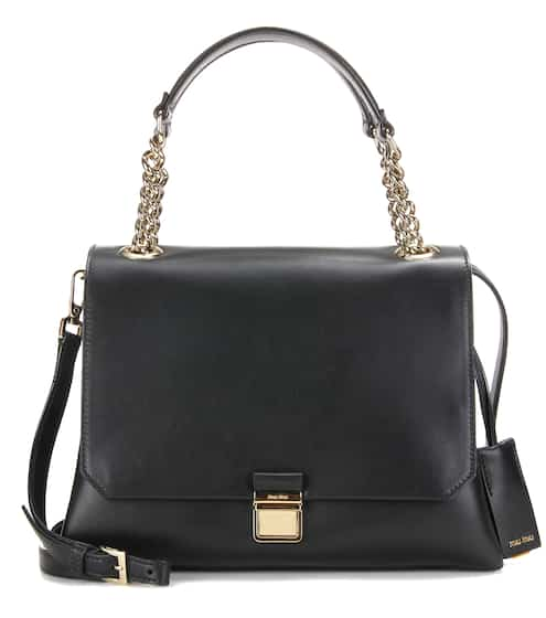 Miu Miu Leather Tote from mytheresa - Styhunt 175d07268f05a