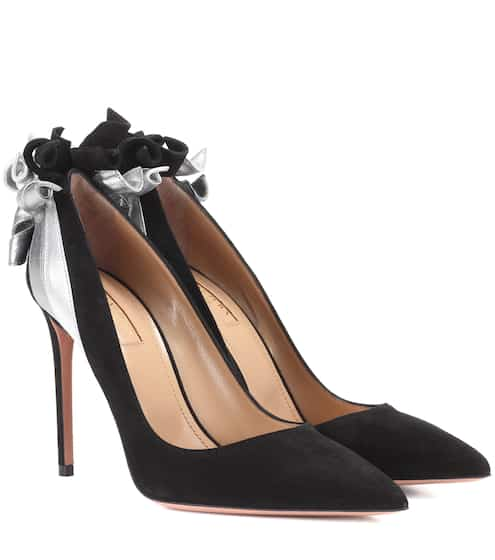 546897b686b Aquazzura Eclipse 75 Suede Pumps from mytheresa - Styhunt