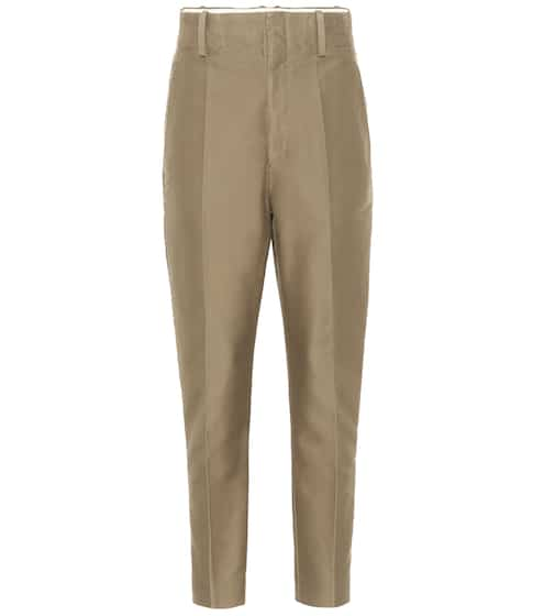 이자벨 마랑 에뚜왈 고아 팬츠 Isabel Marant Etoile Goah high-rise straight cotton pants