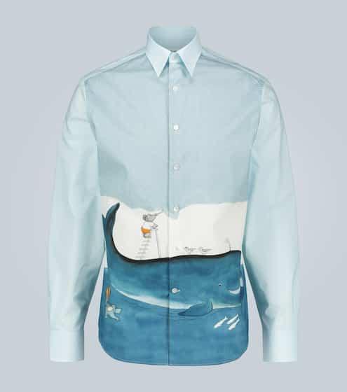 랑방 셔츠 Lanvin Babar printed cotton shirt
