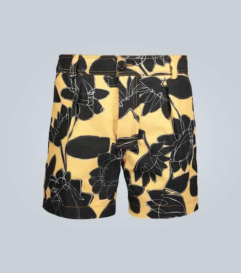 자크뮈스 플로럴 맨 반바지 Jacquemus Le Short Tennis floral shorts