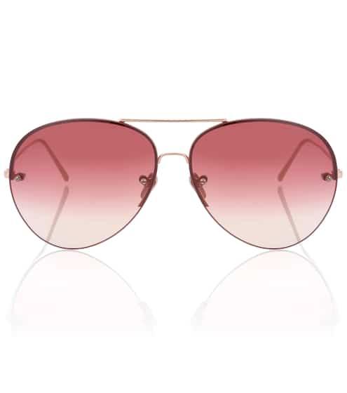 Linda Farrow Aviator-Sonnenbrille