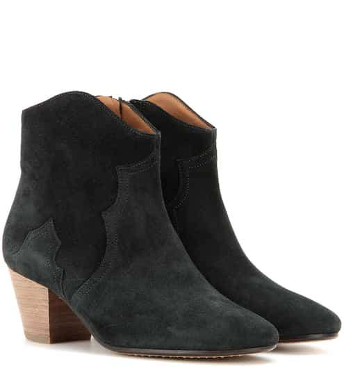 Isabel Marant Étoile The Dicker Ankle Boots aus Veloursleder