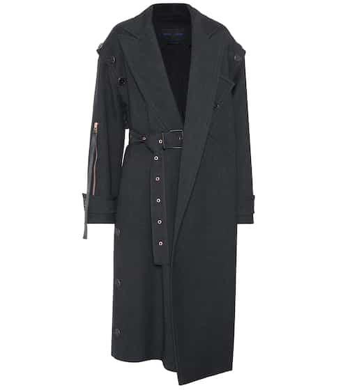 Proenza Schouler Asymmetrischer Mantel aus Wolle