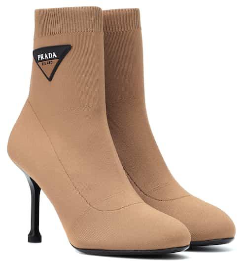 프라다 로고 삭스 부츠 Prada Logo sock boots