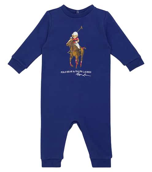 폴로 랄프로렌 베이비 아기옷 우주복 Polo Ralph Lauren Kids Baby logo cotton-blend onesie
