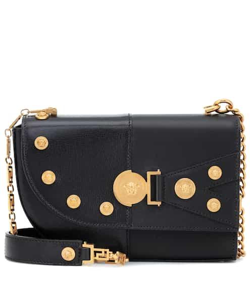 베르사체 클래쉬백 미디움 블랙 금장 (서현 착용) Versace The Clash Medium leather shoulder bag