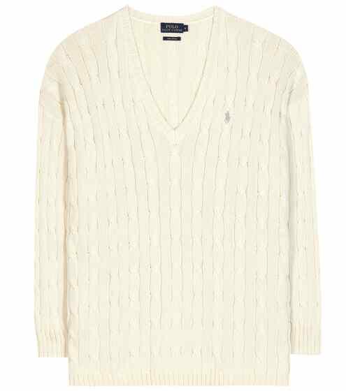 Polo Ralph Lauren Zopfstrickpullover aus Baumwolle
