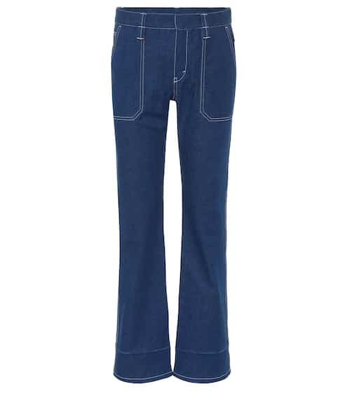 끌로에 Chloe High-waisted cropped jeans
