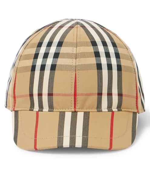 버버리 키즈 볼캡 Burberry Vintage Check cotton baseball cap