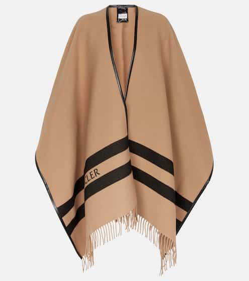 몽클레어 케이프 Moncler Wool logo cape