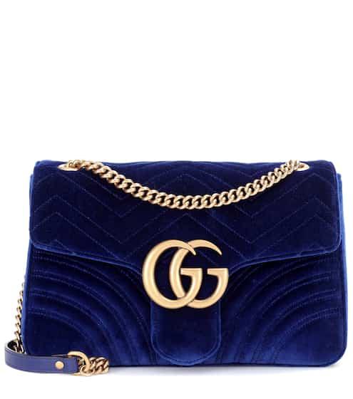 Gucci Schultertasche GG Marmont aus Samt