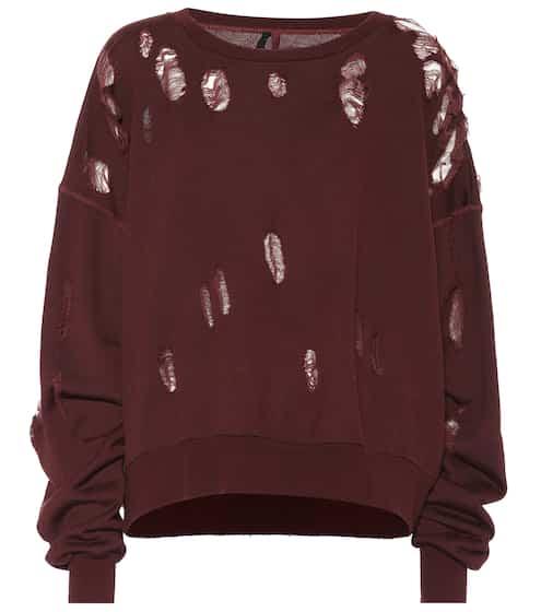 Unravel Distressed Sweatshirt aus Baumwolle