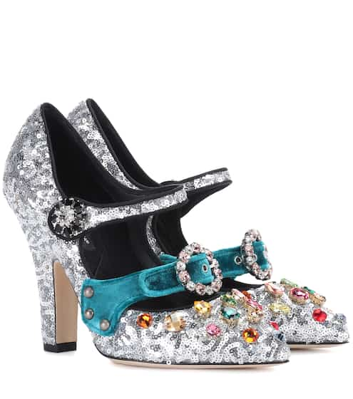Dolce & Gabbana Pumps mit Pailletten und Kristallen