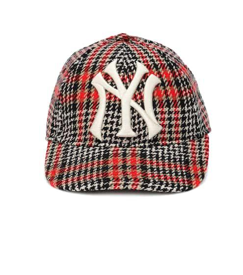 구찌 Gucci NY Yankees houndstooth baseball cap
