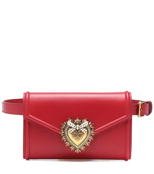 돌체 & 가바나 디보션 벨트백 레드 Dolce & Gabbana Devotion leather belt bag