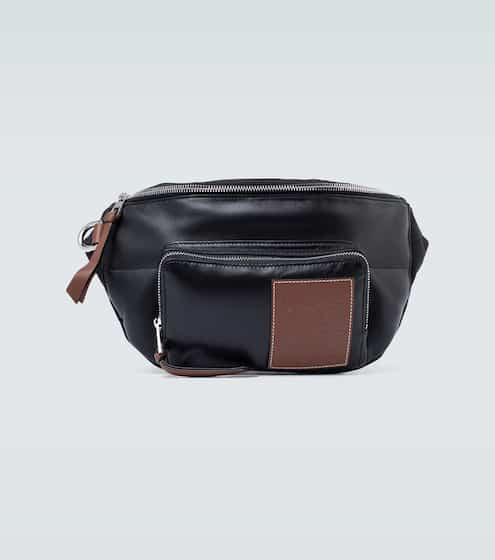 로에베 맨 플러피 벨트백 - 블랙/피칸 LOEWE Puffy belt bag