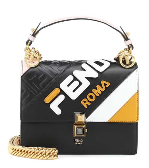 b25a9b40181 FENDI MANIA Kan I Mini leather shoulder bag