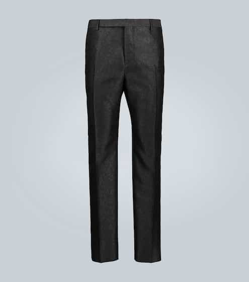 생 로랑 Saint Laurent Floral wool-blend jacquard pants