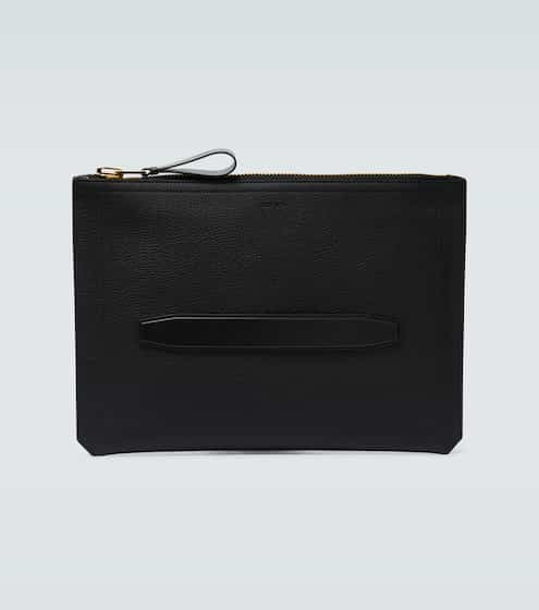 탐 포드 Tom Ford Grained leather zipped portfolio